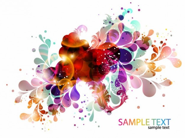 colorful abstract floral or fish design background