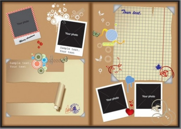 cork board template for photos frame | download Free Background Vector
