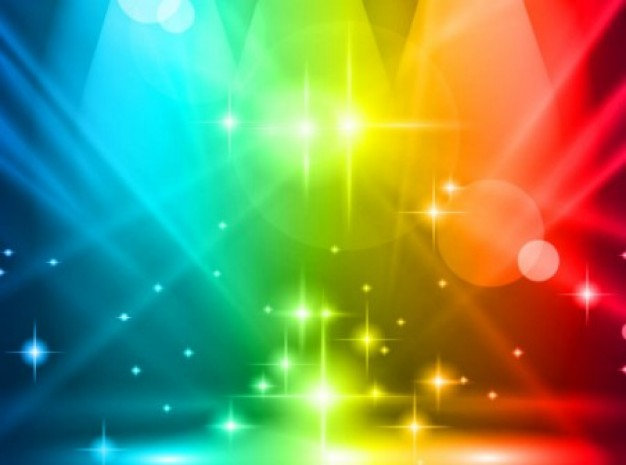 dream multicolored lights party background