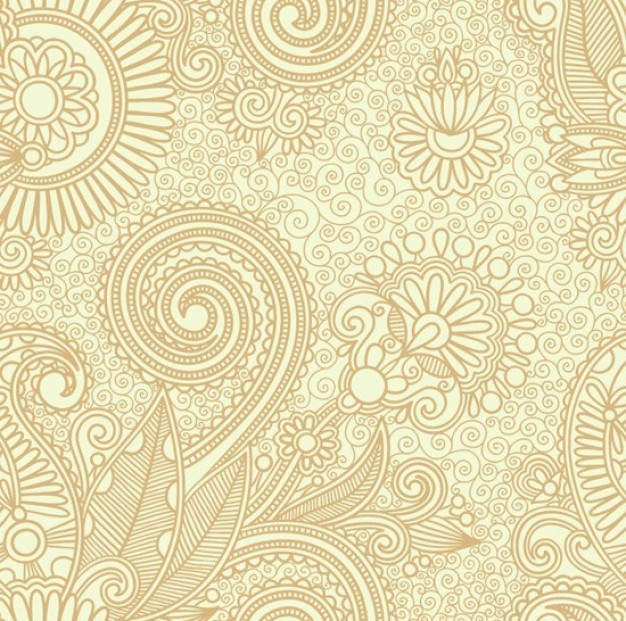 elegant abstract Crafts seamless floral pattern background about Arts Flowers