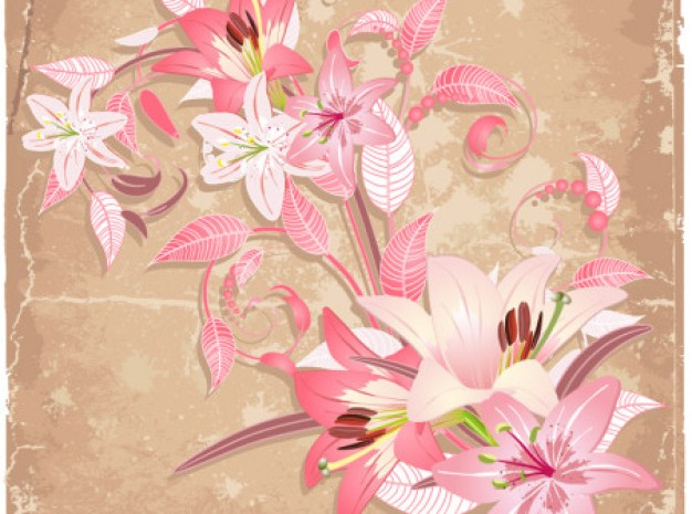 Flower elegant Shopping beautiful abstract art with flowers background set about Crafts Valentines D