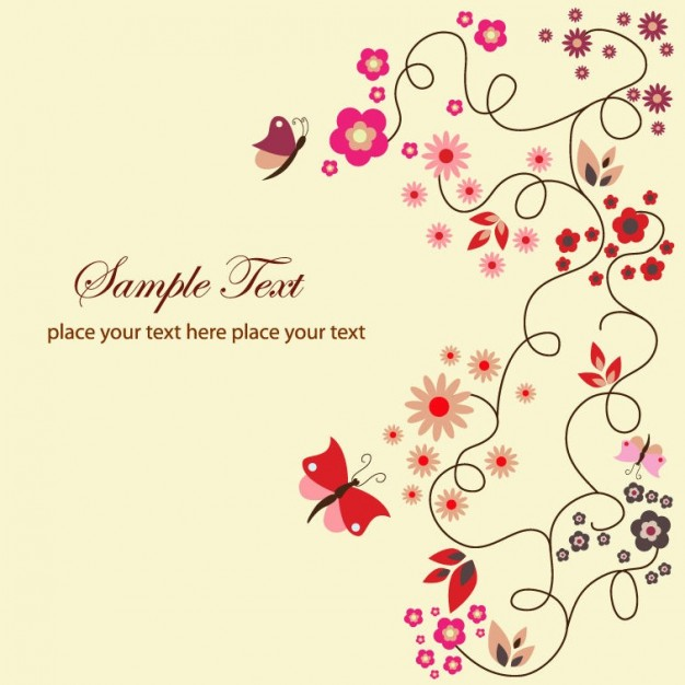 elegant floral Color theory greeting card about Fashion Flower