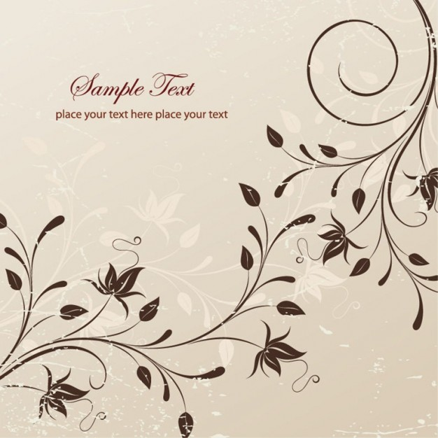 floral illustration with light chocolate background