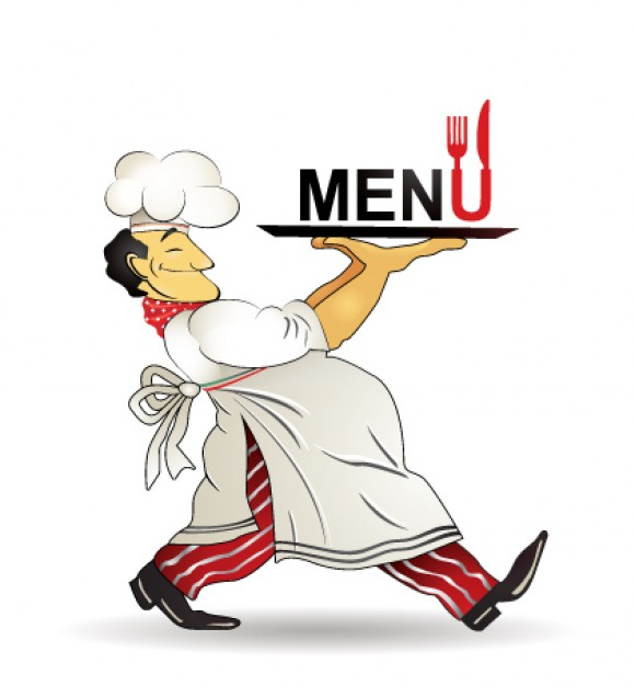 funny Chef restaurant menu design material chef about Business Restaurant