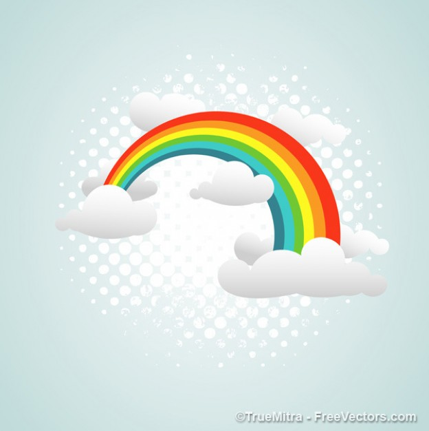 Graphics colorful Free rainbow on clouds abstract background about art Backgrounds