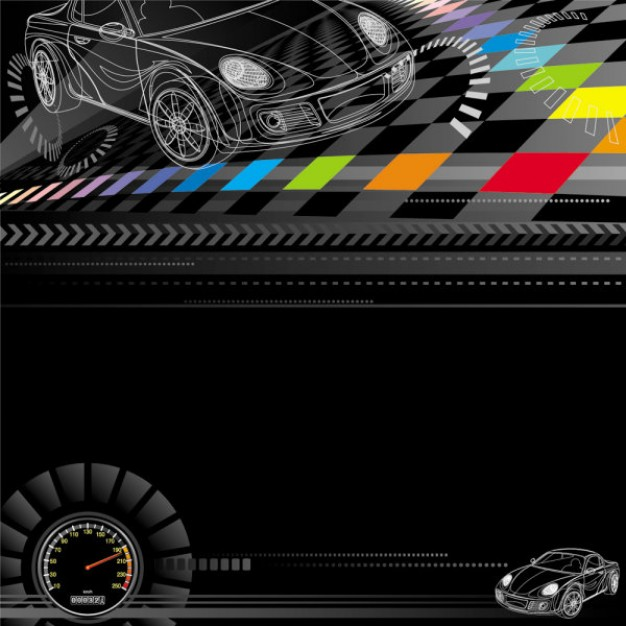high speed racing theme design over dark background