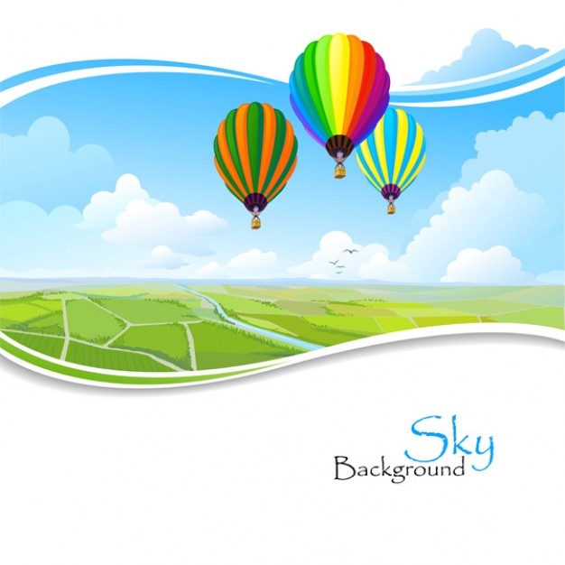 Hot air balloon hot Business air balloons flying over frame wavy landscape about Aviation