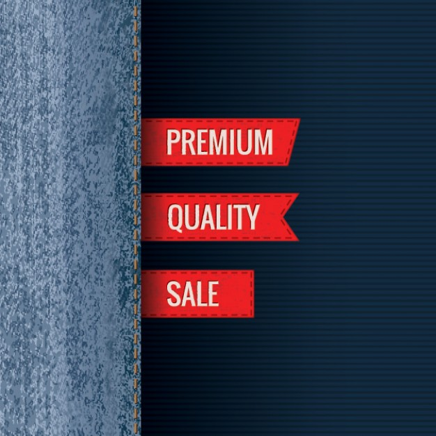 premium jeans for web design template in blue