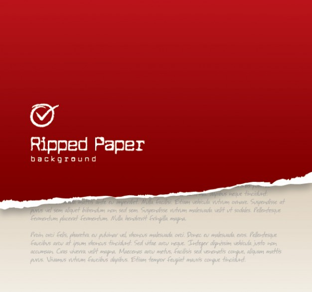 red ripped Apple paper background about Chiffon cake Shopping