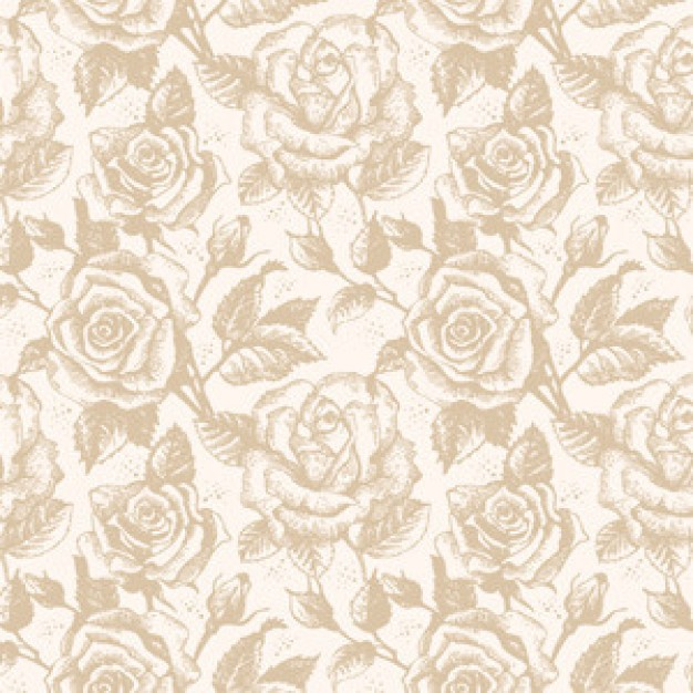 rose retro Plants pattern about garden pattern
