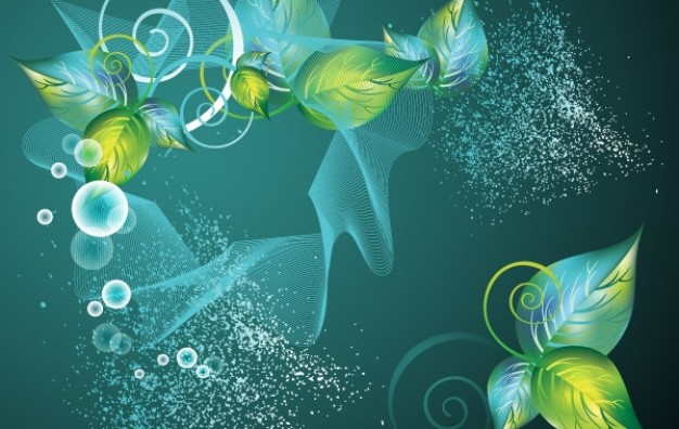 Tools abstract Polytetrafluoroethylene green swirl floral leaf background about Programming Crafts