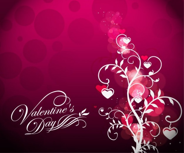 Valentine's Day valentine Holidays s day floral on red background about Romance card