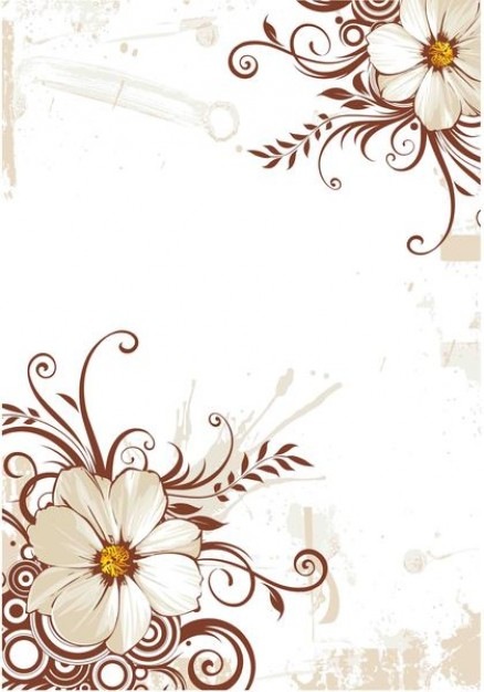 vintage Flowers Craft background about art pattern