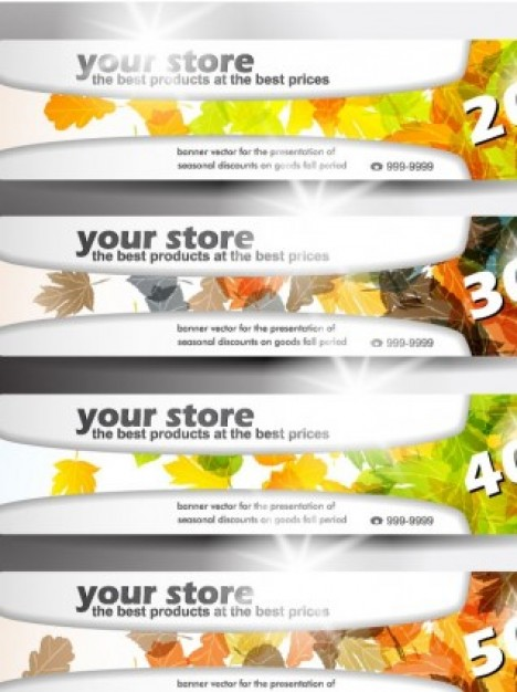 banner various themes smart light leaf green spring nature