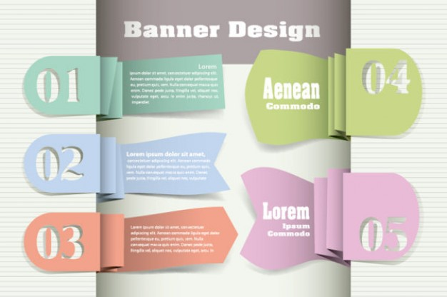 step by step template in folded labels