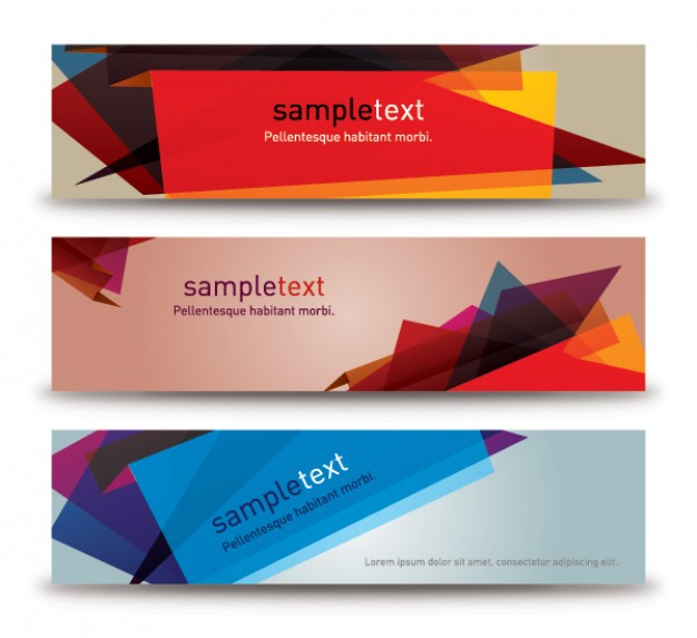 abstract banners with Cubist
