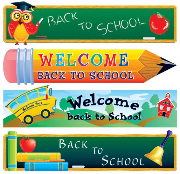 back to school materials with owl weclome pencil
