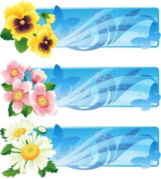 banner design with flower
