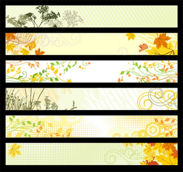 banner of nature plant material with landscape flower