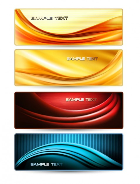banner pack of the a gorgeous dynamic flow line