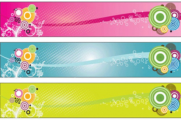 banner template with target in clear color