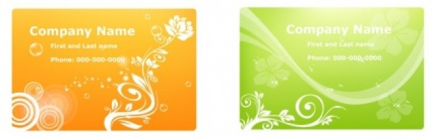 banners with floral for business card design