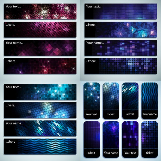 beautiful starry banner with night sky background