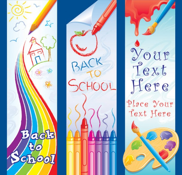 children s lovely painting theme material with crayon watercolor rainbow
