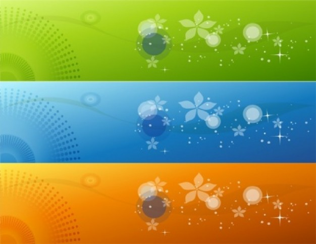 clear color banners with flower