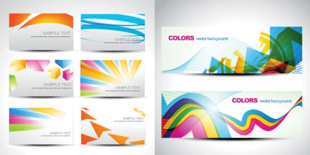 colors and stylish card pack with gray background