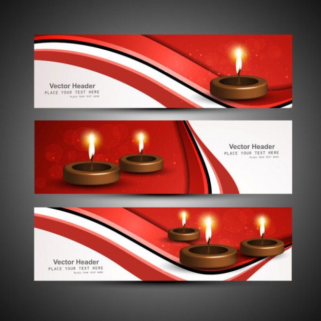 exquisite diwali theme material with candle