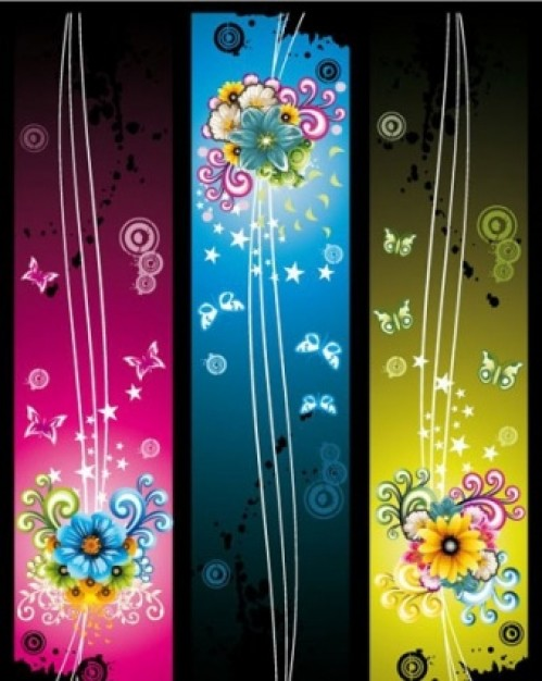 fantasy flower illustration in vertical