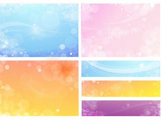 flowery background package in pink blue purple
