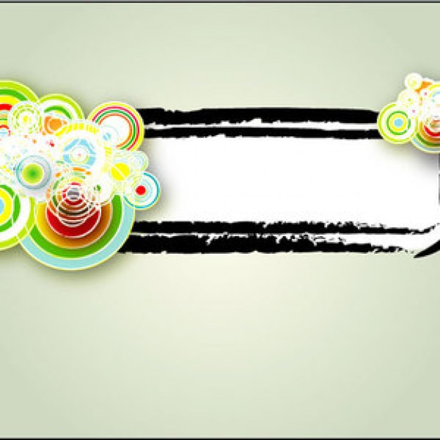 graphique banner with colorful water wave