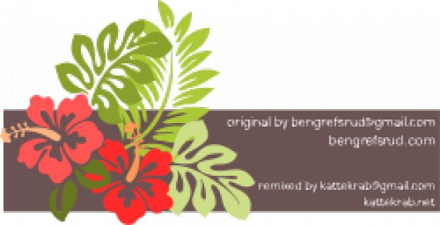 hibiscus remixed with flower and leaf