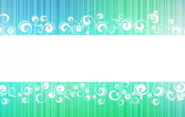 ornamented frame banner with white swirls