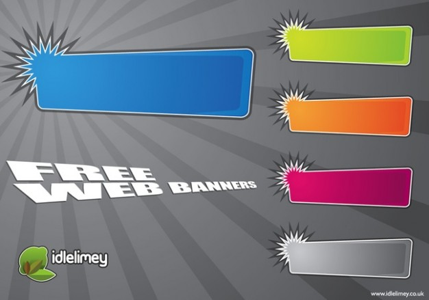 promo web banners with color zones