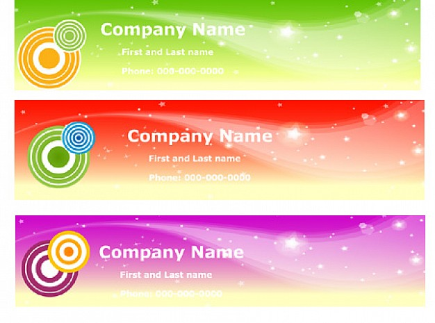 shiny banners with floral and target
