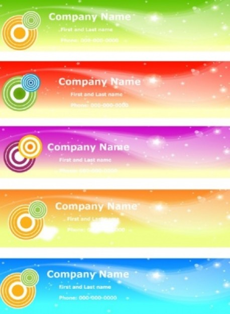 sky banners set with colorful target and stars