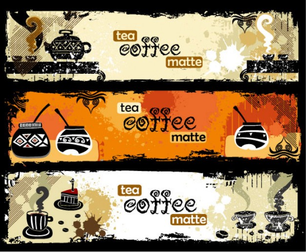 tea and coffee theme banner material for coffee cover design
