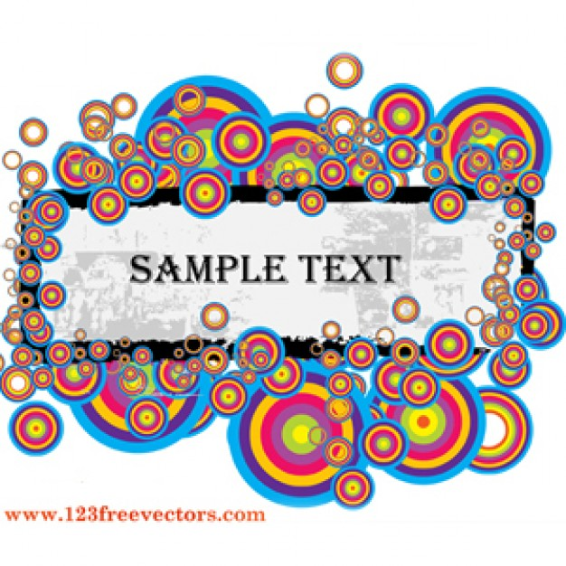text banner with colorful ball template