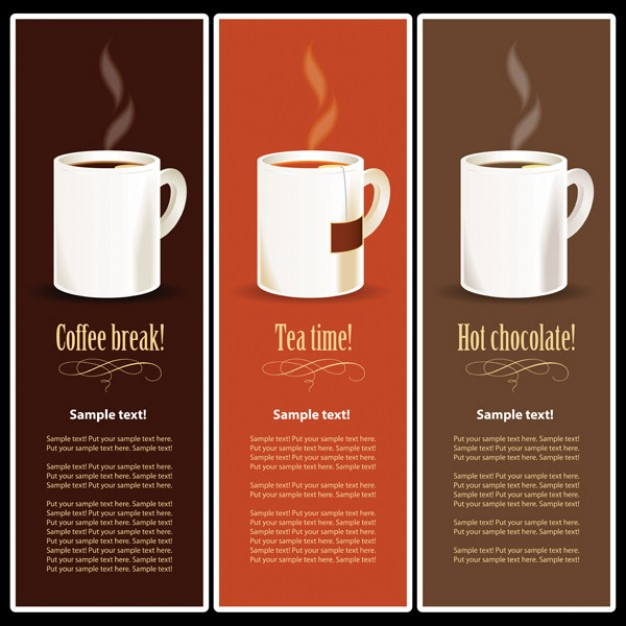 the drinks menu for coffee product logo design