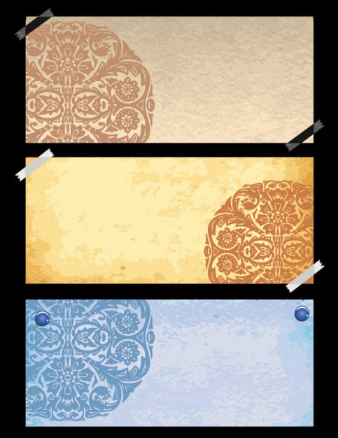 the old classical pattern paper material