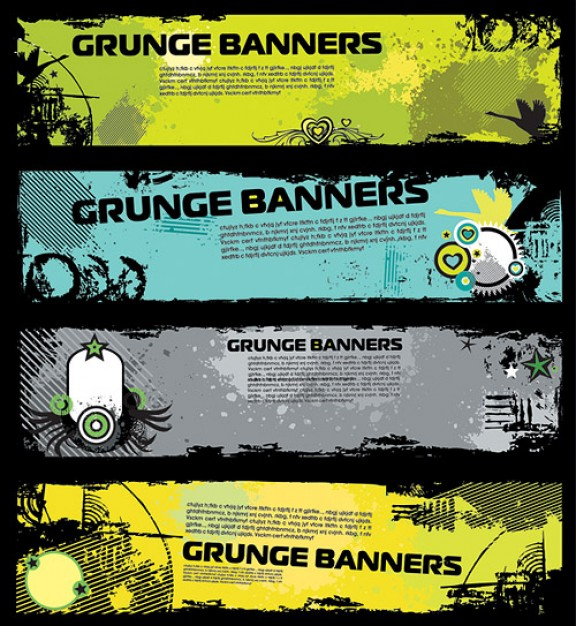 trend banner template material with target and swan