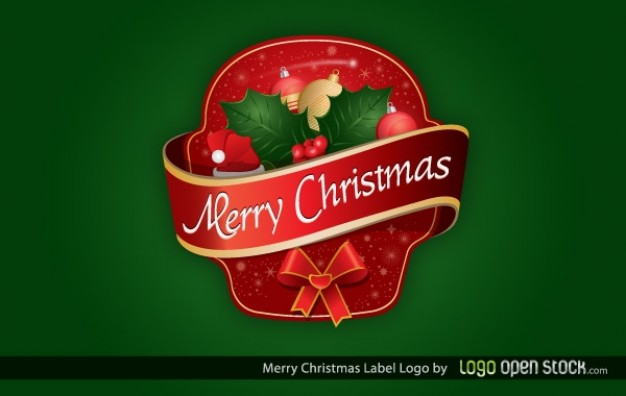 Christmas merry Holiday christmas label logo about Mistletoe Kiss