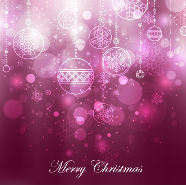 Christmas purple Holiday christmas decoration background about Snowflake Shopping