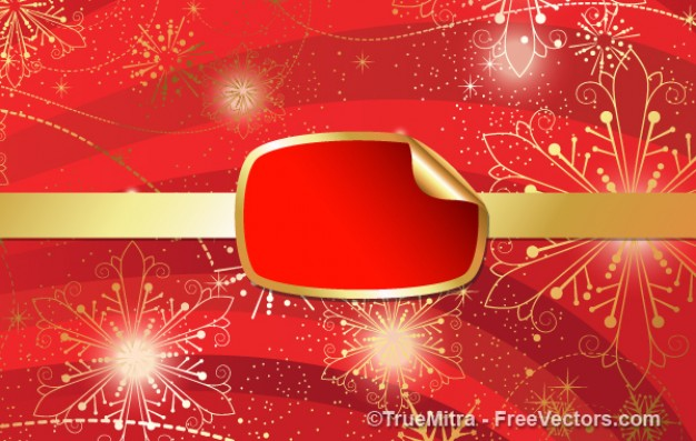Christmas red Do it yourself banner with gold sparkles abstract background about Business Consumer G