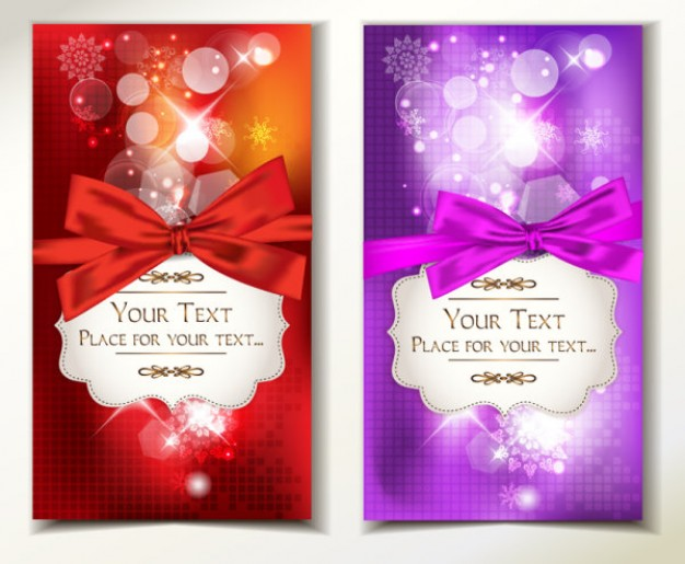 Christmas text Arts banner with ribbon and glitter about Crafts Ornaments