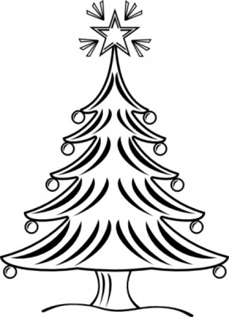 Paris jean Christmas tree victor balin sapin xmas bw clip art about France Christmas
