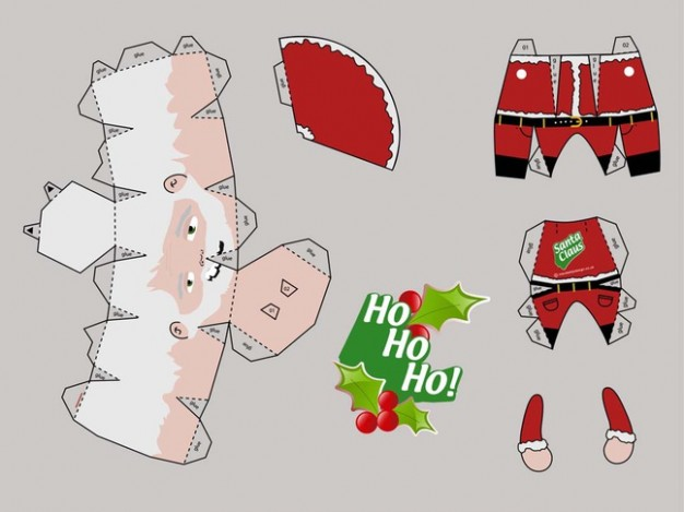 Santa Claus template Christmas of santa papercraft about Holidays Claus